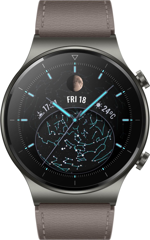 Smartwatches - Huawei Watch GT 2 Pro Classic (46mm) Smartwatch nebula gray  - Onlineshop EURONICS