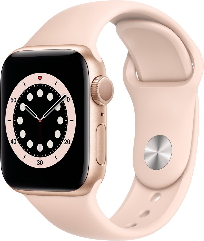 Smartwatches - Apple Watch Series 6 (40mm) GPS mit Sportarmband gold sandrosa  - Onlineshop EURONICS