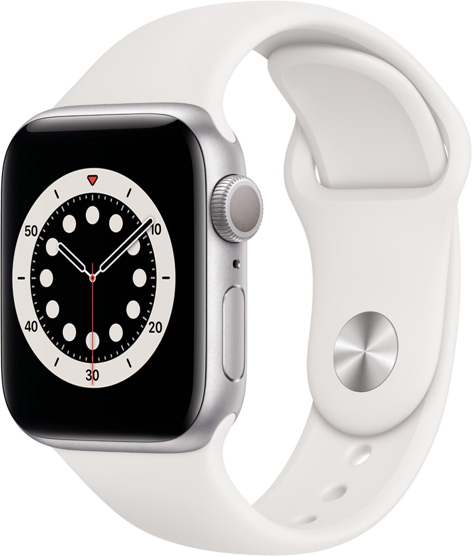 Smartwatches - Apple Watch Series 6 (40mm) GPS mit Sportarmband silber weiß  - Onlineshop EURONICS