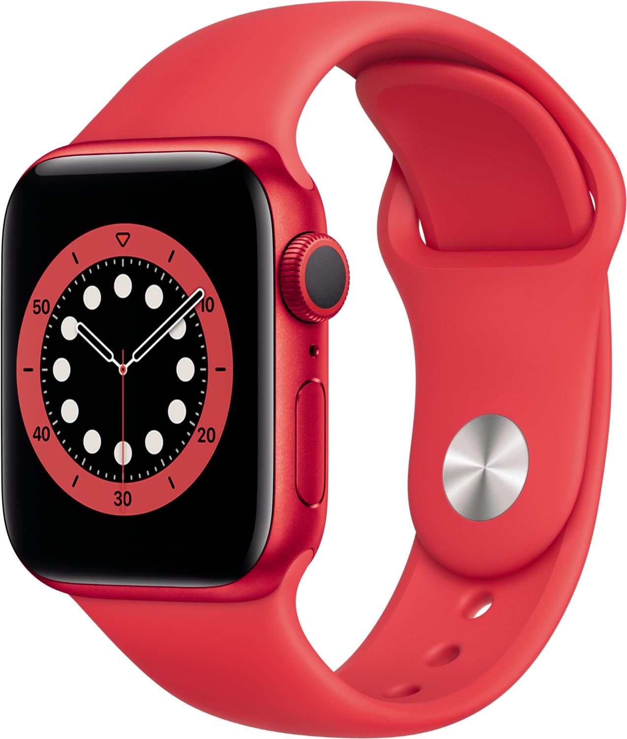 Smartwatches - Apple Watch Series 6 (40mm) GPS (PRODUCT)RED mit Sportarmband rot  - Onlineshop EURONICS