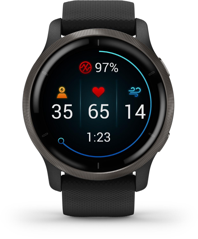 Smartwatches - Garmin Venu 2 Smartwatch schwarz schiefergrau  - Onlineshop EURONICS