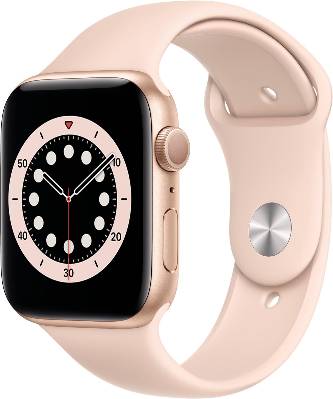 Smartwatches - Apple Watch Series 6 (44mm) GPS mit Sportarmband gold sandrosa  - Onlineshop EURONICS