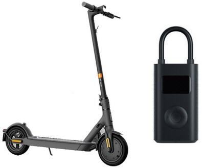 SET Mi Electric Scooter 1S + Mi Portable Electric Air Compress
