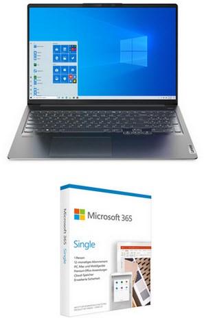 IdeaPad 5 Pro 16ACH6 (82L5005DGE) 40,64 cm (16″) Notebook storm grey inkl. 365 Single FPP