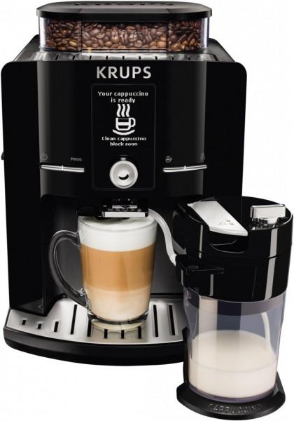 Krups EA 8298 Latt'Espress Kaffee Vollautomat schwarzedelstahl