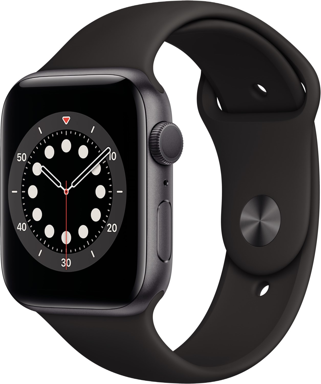 Smartwatches - Apple Watch Series 6 (44mm) GPS mit Sportarmband space grau schwarz  - Onlineshop EURONICS