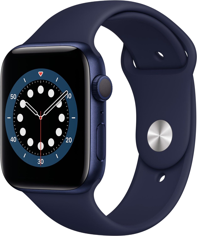 Smartwatches - Apple Watch Series 6 (44mm) GPS mit Sportarmband blau dunkelmarine  - Onlineshop EURONICS