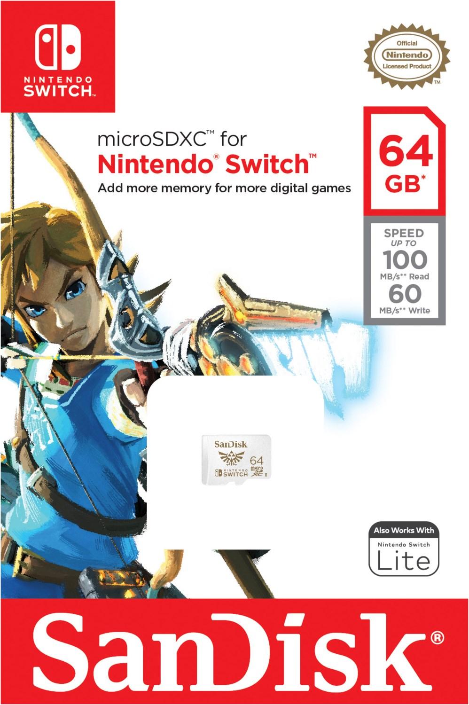 microSDXC Extreme U3 UHS-I (64GB) Speicherkarte für Nintendo Switch