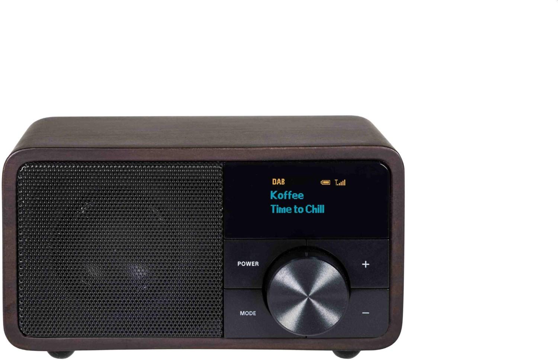 #DAB+ 1 mini DAB Radioempfänger holz dunkel#