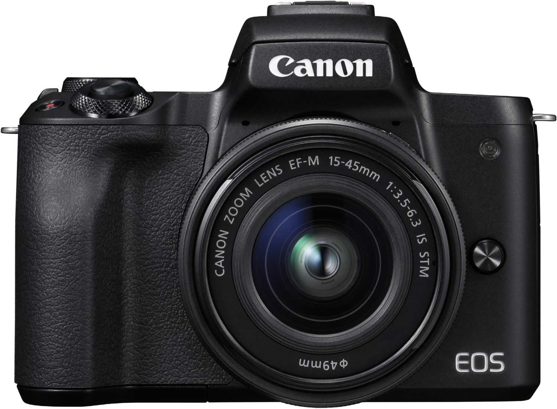 Systemkameras - Canon EOS M50 Kit (15 45mm EF M) Digitale Systemkamera schwarz  - Onlineshop EURONICS