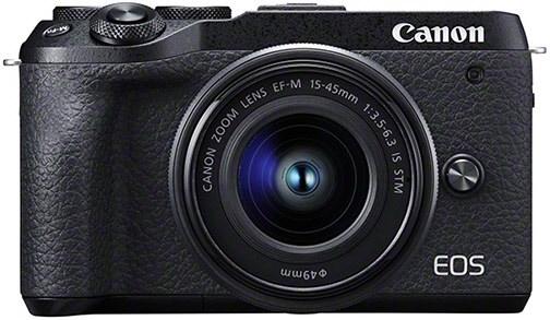 Systemkameras - Canon EOS M6 Mark II Kit (EF M 15 45mm) Digitale Systemkamera schwarz  - Onlineshop EURONICS