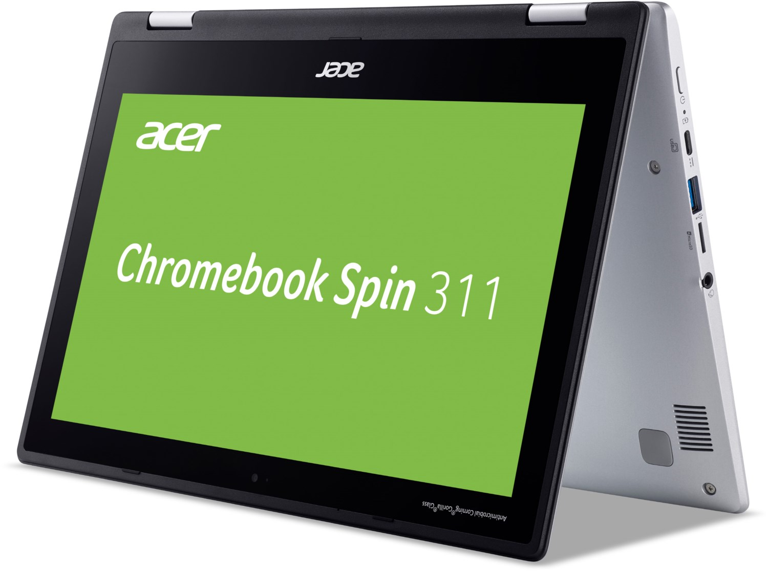 Chromebook Spin 311 (CP311-2H-C8M1) 29,46 cm (11,6″) 2 in 1 Convertible-Notebook silber