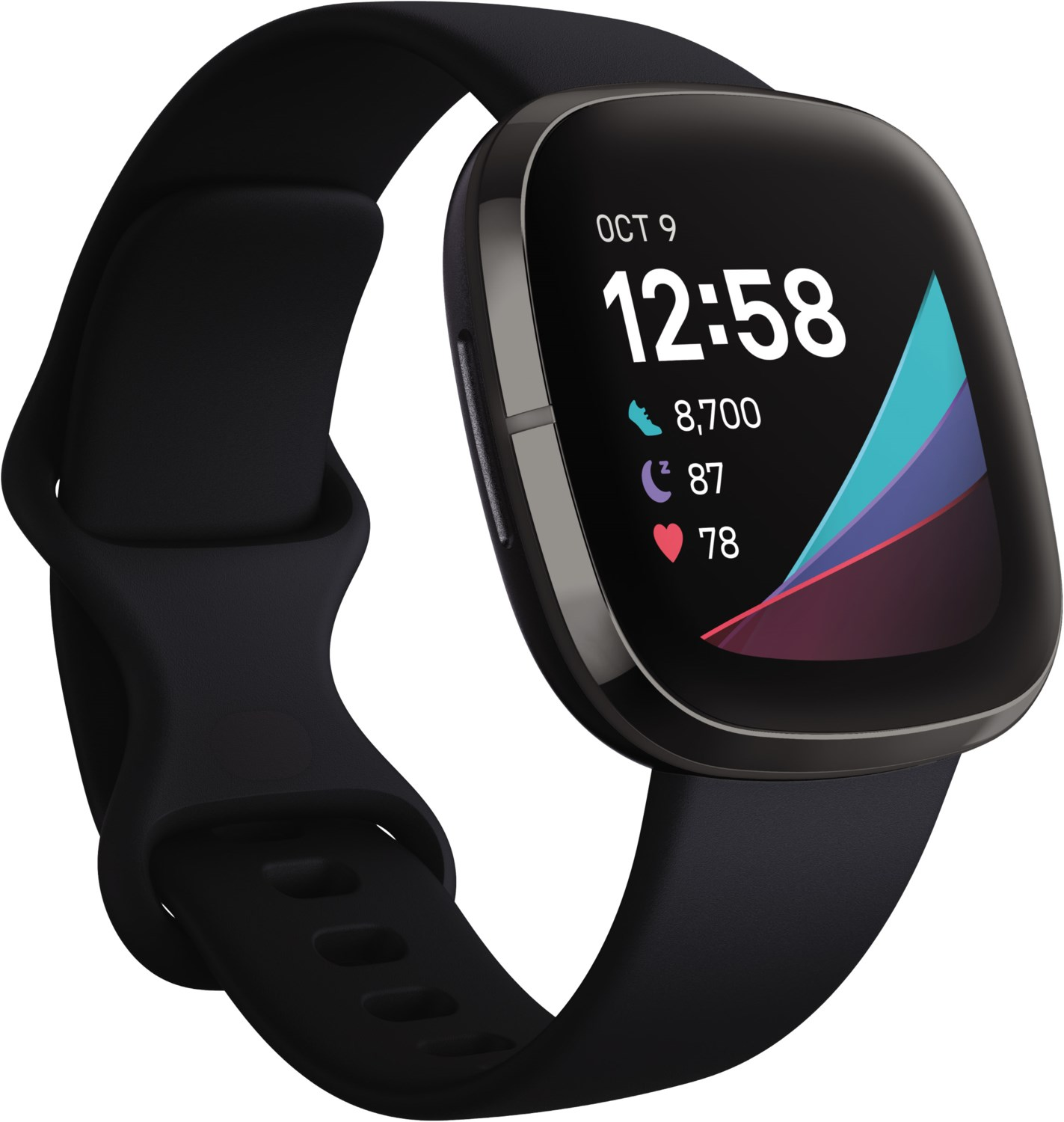 Smartwatches - Fitbit Sense Smartwatch carbon graphite  - Onlineshop EURONICS