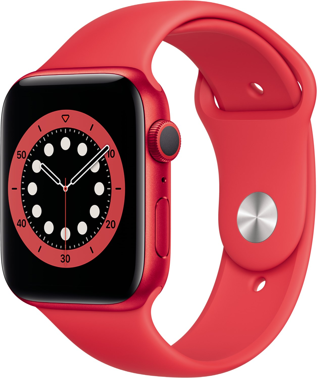 Smartwatches - Apple Watch Series 6 (44mm) GPS (PRODUCT)RED mit Sportarmband rot  - Onlineshop EURONICS