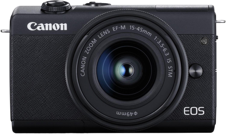 Systemkameras - Canon EOS M200 Kit (15 45mm f3.5 6.3) Digitale Systemkamera schwarz  - Onlineshop EURONICS