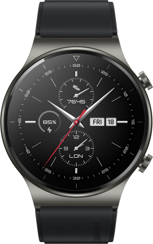 Smartwatches - Huawei Watch GT 2 Pro Sport (46mm) Smartwatch night black  - Onlineshop EURONICS