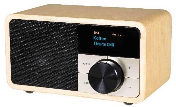 #DAB+ 1 mini DAB Radioempfänger holz hell#