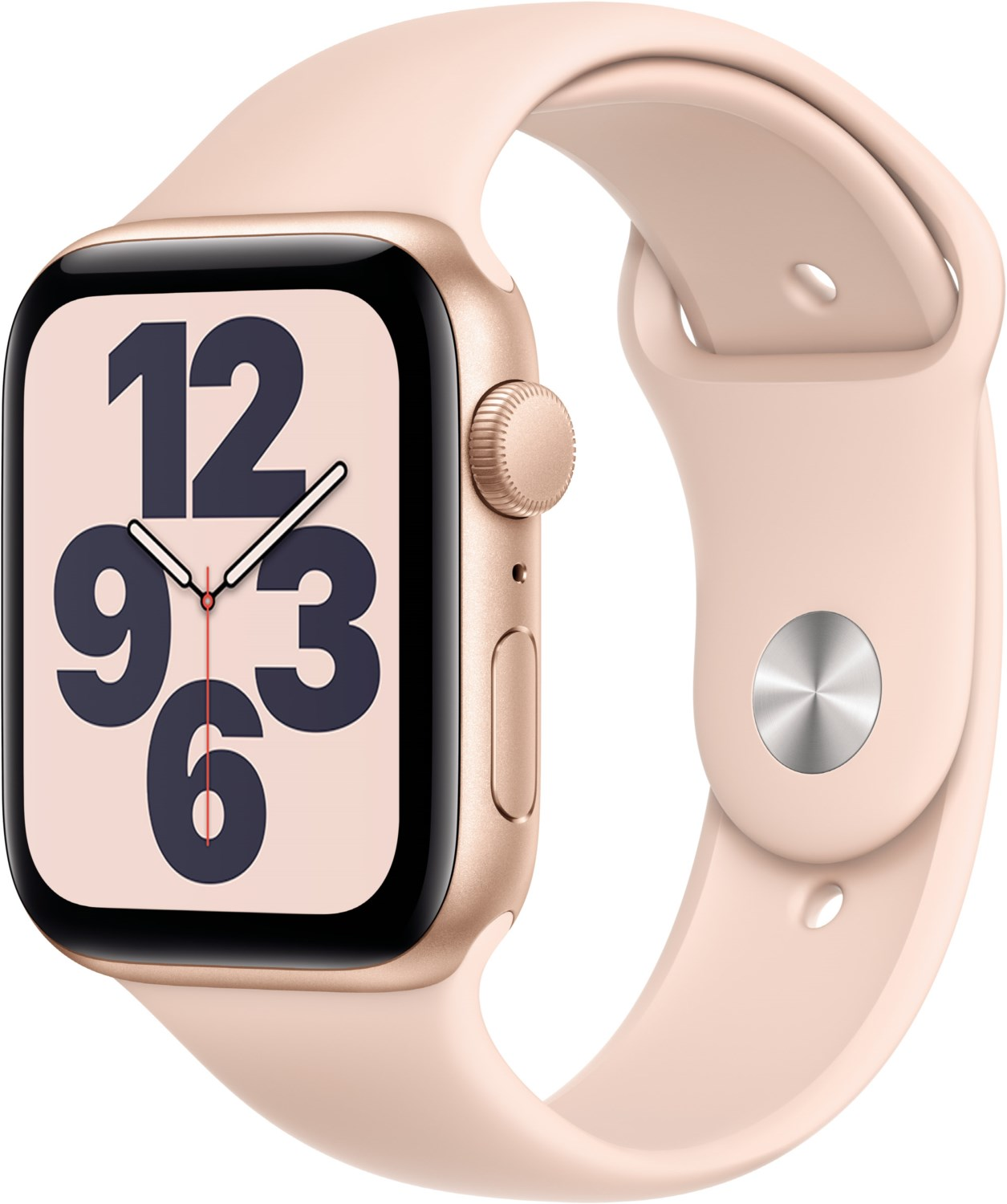 Smartwatches - Apple Watch SE (44mm) GPS mit Sportarmband gold sandrosa  - Onlineshop EURONICS