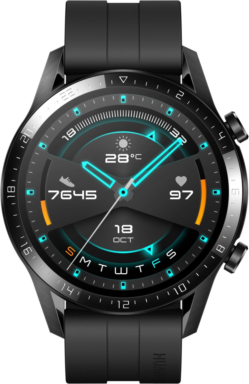 Smartwatches - Huawei Watch GT 2 Sport (46mm) Smartwatch mattschwarz  - Onlineshop EURONICS
